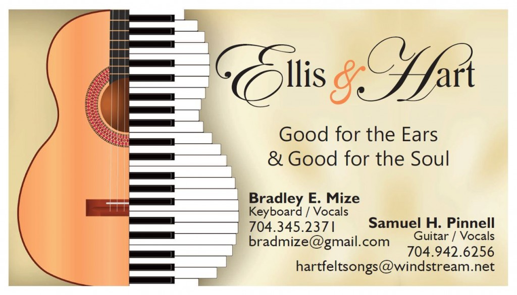 Band business cards ellis hart tami osmer mize for Band business card ideas